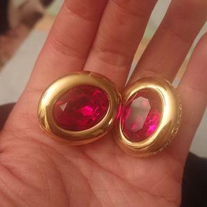SWAROVSKI Baroque classic red earrings